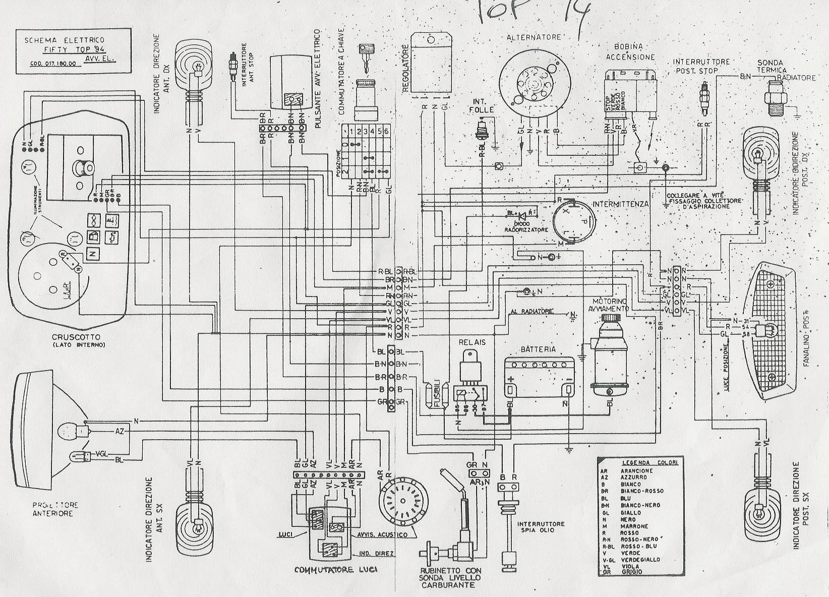 Schema Elettrico Liberty 125 : Utilizzare un interruttore al posto delle chiavi